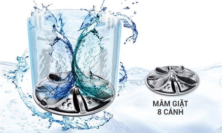 Máy giặt 9KG Panasonic NA-F90A4HRV giặt sạch vết bẩn vượt trội