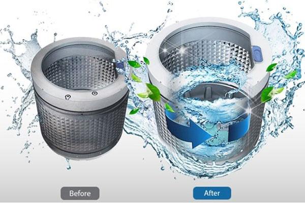 Lồng giăt tự động vệ sinh giúp việc giặt giũ diễn ra tiện lợi hơn