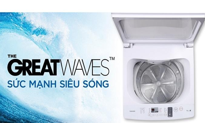 Máy giặt Toshiba 9 kg AW-K1005FV (SG) - Công nghệ giặt GreatWaves