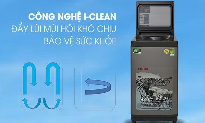 Máy giặt Toshiba 9 kg AW-K1005FV (SG) - Công nghệ iClean
