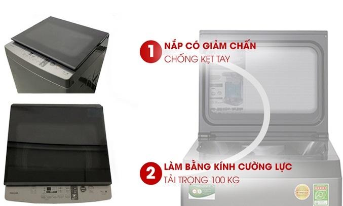 Máy giặt Toshiba 9 kg AW-K1005FV (SG) - Nắp chống kẹt tay