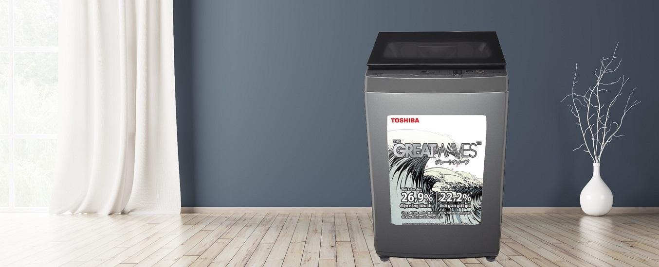 Máy giặt Toshiba 9 kg AW-K1005FV (SG) - Thiết kế hiện đại