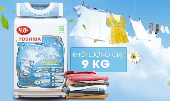 Máy giặt Toshiba AW-DC1005CV (WB) khối lượng giặt 9 kg
