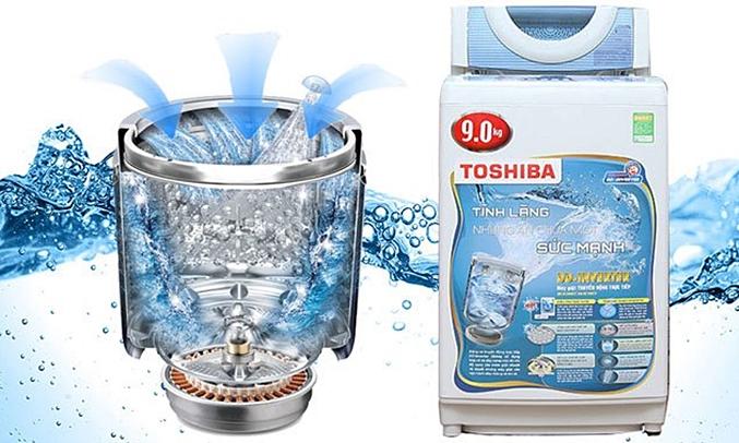 Máy giặt Toshiba AW-DC1005CV (WB) hoạt động bền bỉ