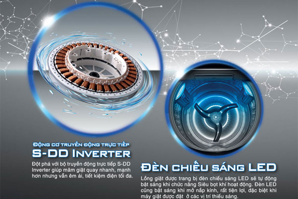 Gia đình không cần lo về chi phí điện năng hàng tháng với động cơ DD Inverter trên máy giặt Toshiba Ultra Wash