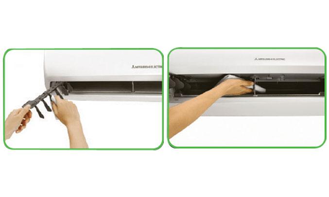 Máy lạnh Mitsubishi Electric MS-HP50VF vệ sinh dễ dàng
