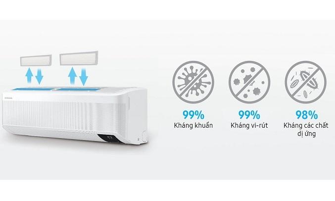 Máy lạnh Samsung Inverter 1 HP AR10TYHYCWKNSV - Màng lọc kháng khuẩn Ag+