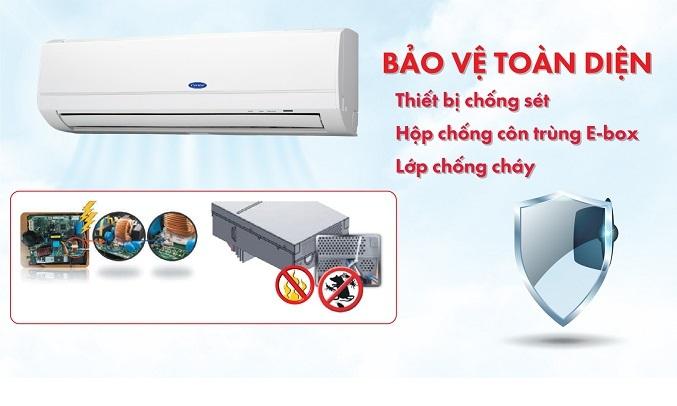 Máy lạnh Carrier Inverter 1 HP 38GCVBE010-703V/42GCVBE010-703V - Bảo vệ toàn diện