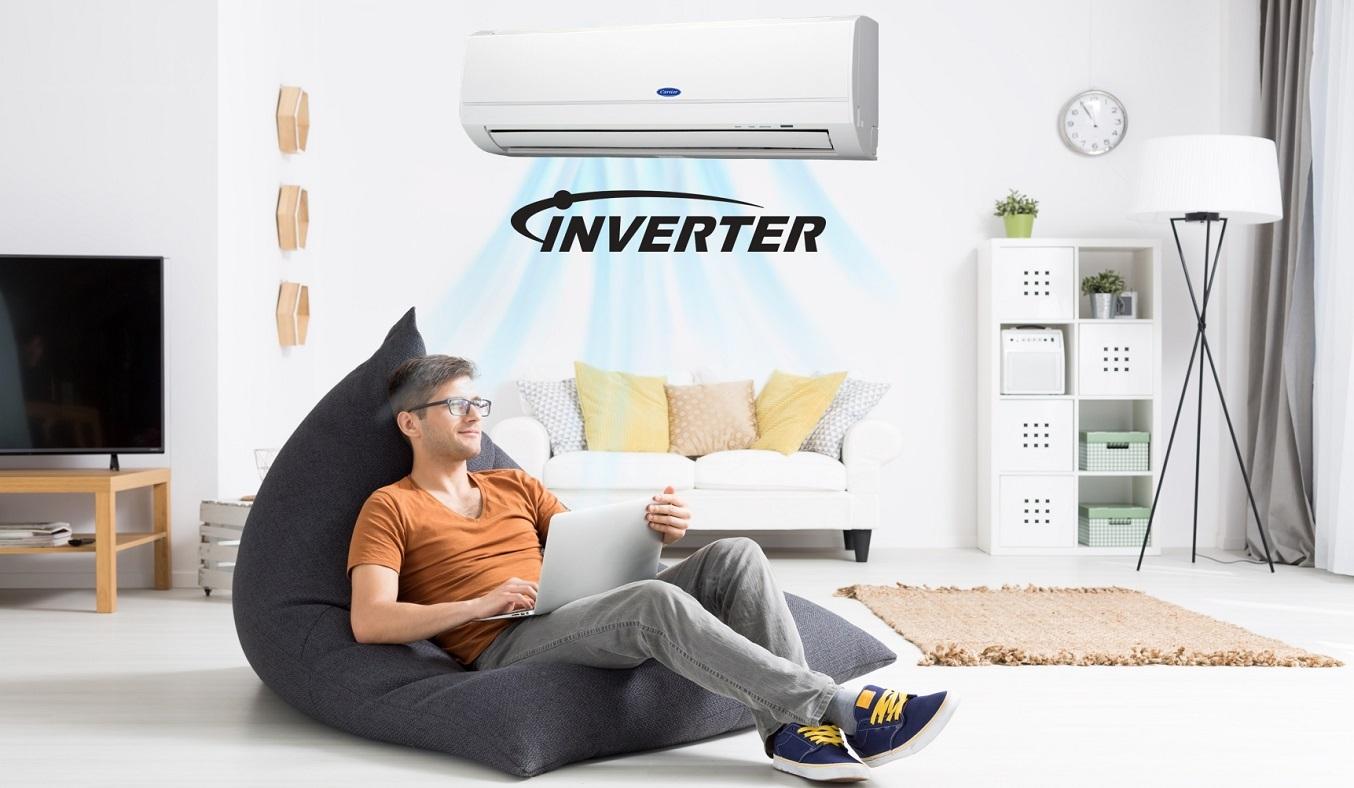 Máy lạnh Carrier Inverter 1 HP 38GCVBE010-703V/42GCVBE010-703V - Công nghệ Inverter