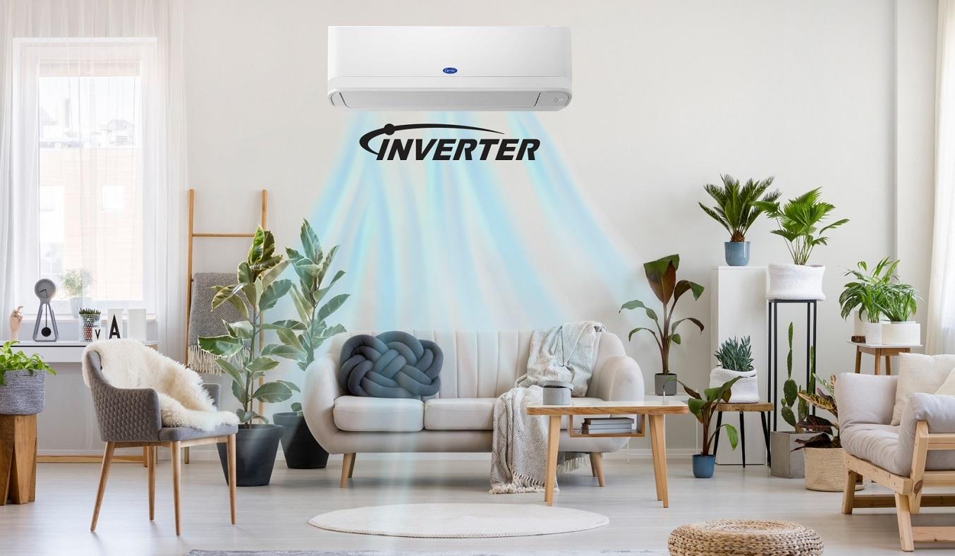 Máy lạnh Carrier Inverter 1.5 HP 38GCVBE013-703V/42GCVBE013-703V - Công nghệ Inverter