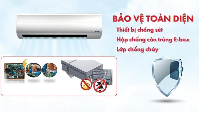 Máy lạnh Carrier Inverter 2 HP 38GCVBE018-703V/42GCVBE018-703V - Bảo vệ toàn diện