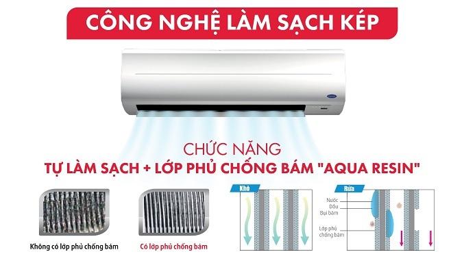 Máy lạnh Carrier Inverter 2 HP 38GCVBE018-703V/42GCVBE018-703V - Công nghệ làm sạch kép