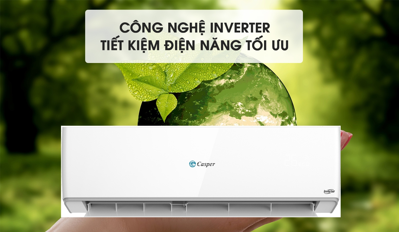 Máy lạnh Casper Inverter 1 HP GC-09TL25 tiết kiệm điện