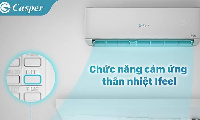 Máy lạnh Casper Inverter 1 HP GC-09TL25 cảm ứng thân nhiệt ifeel