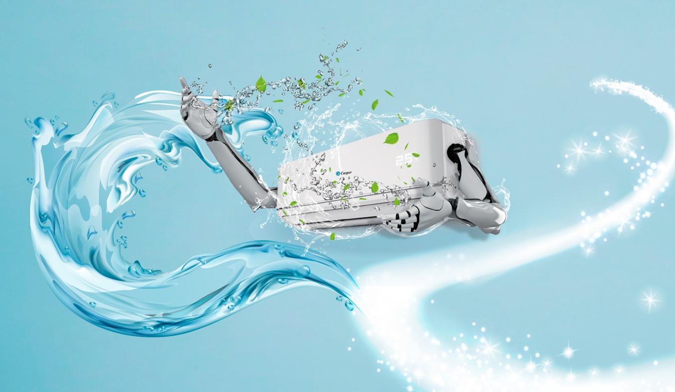 Máy lạnh Casper Inverter 1.5 HP GC-12IS32 - Chức năng i-Clean