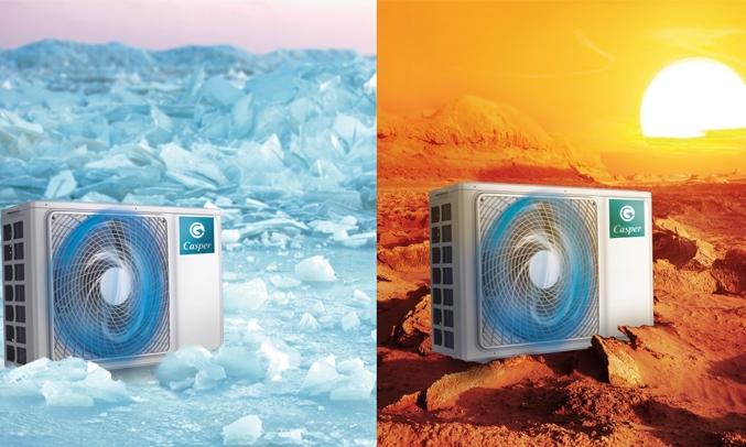 Máy lạnh Casper Inverter 1.5 HP GC-12TL22 dàn nóng thế hệ mới
