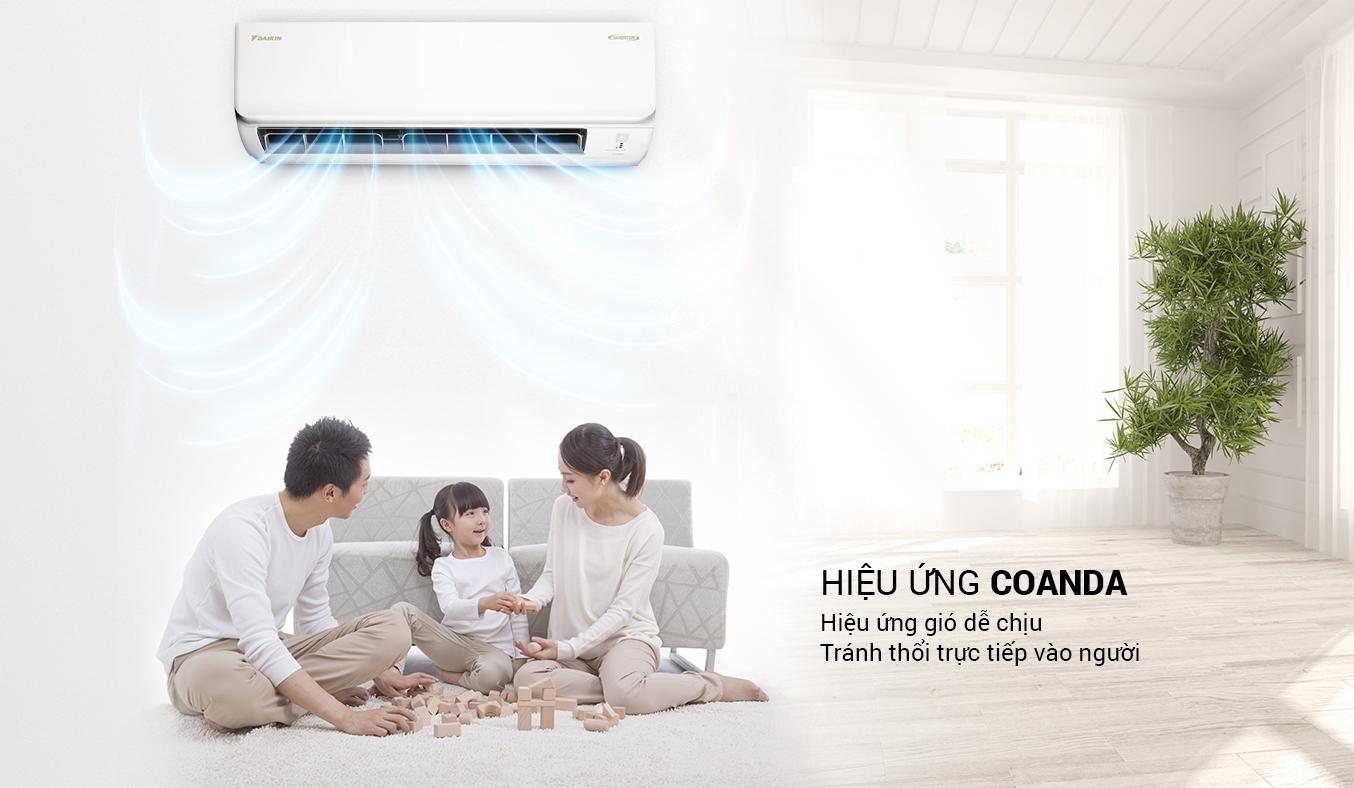 Máy lạnh Daikin Inverter 1 HP ATKA25UAVMV - Điều hòa Daikin Inverter thổi gió dễ chịu