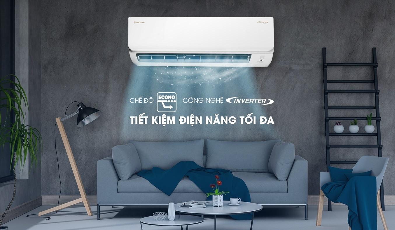 Máy lạnh Daikin Inverter 1 HP ATKA25UAVMV - Máy lạnh Daikin Inverter 1HP tiết kiệm điện năng hiệu quả