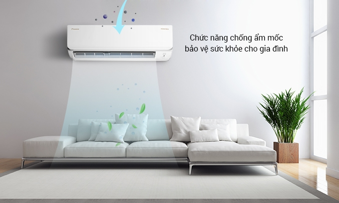 Máy lạnh Daikin Inverter 1 HP ATKA25UAVMV - Chức năng chống ẩm mốc