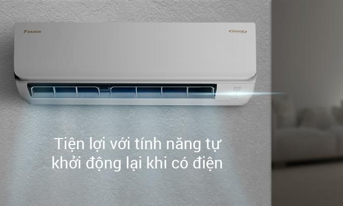 Máy lạnh Daikin Inverter 1 HP ATKA25UAVMV - Tự khởi động lại khi có điện