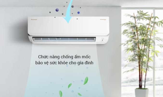 Máy lạnh Daikin Inverter 1.5 HP ATKA35UAVMV - Chức năng chống ẩm mốc bảo vệ sức khỏe