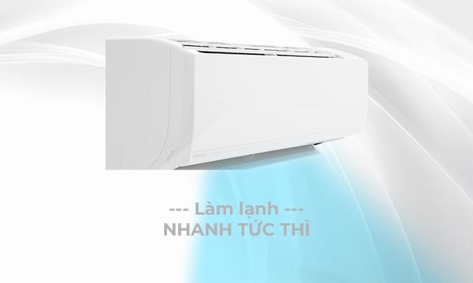 Máy lạnh Daikin Inverter 1 HP ATKC25UAVMV - Làm lạnh nhanh