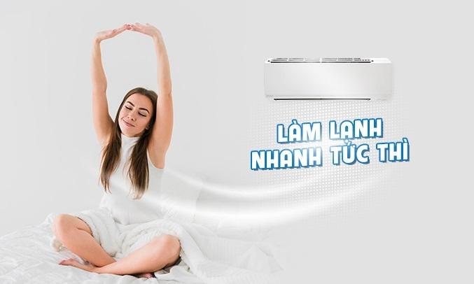 Máy lạnh Daikin Inverter 1.5 HP ATKC35UAVMV - Tính năngPowerful làm lạnh nhanh tức thì