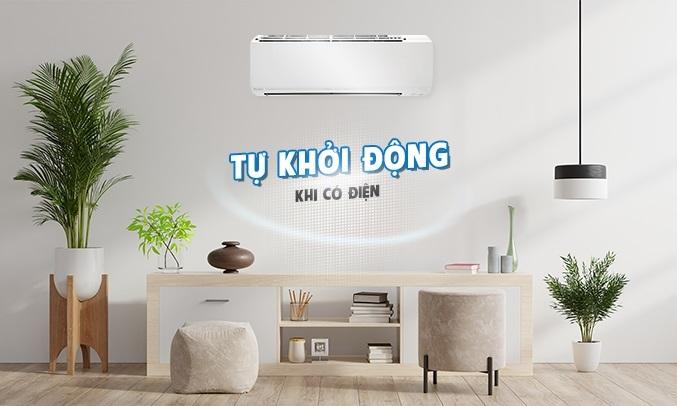 Máy lạnh Daikin Inverter 1.5 HP ATKC35UAVMV - Tự khởi động lại khi có điện