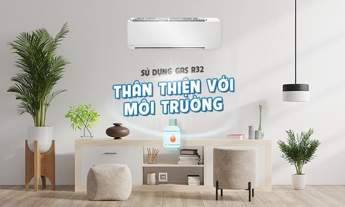 Máy lạnh Daikin Inverter 1.5 HP ATKC35UAVMV - Gas R32 thân thiện với môi trường