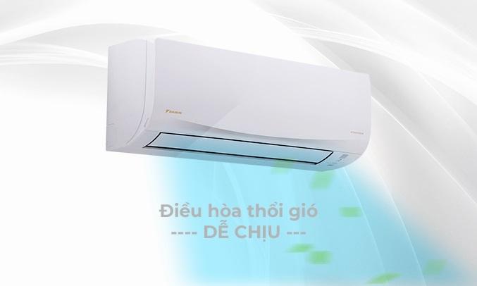 Máy lạnh Daikin Inverter 1.5 HP ATKQ35TAVMV - Thổi gió dễ chịu