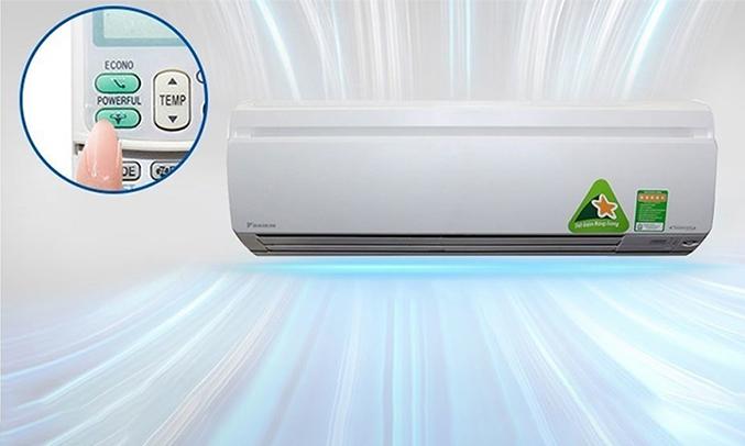 Máy lạnh Daikin Inverter 1.5 HP FTKS35GVMV làm lạnh nhanh chóng