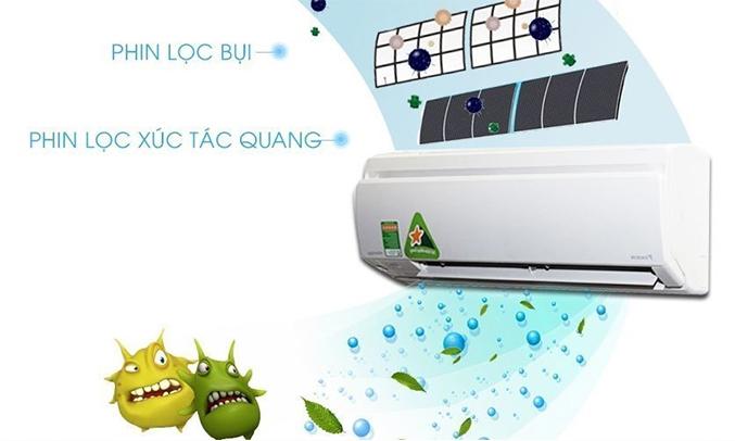 Máy lạnh Daikin Inverter 1.5 HP FTKS35GVMV kháng khuẩn, khử mùi