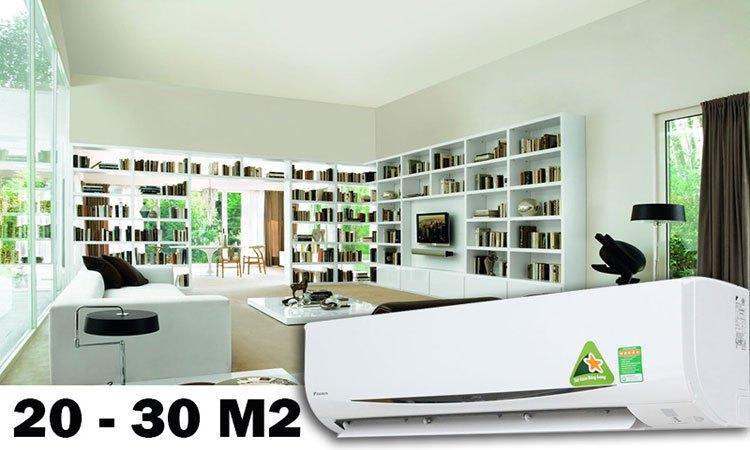 Máy lạnh công suất 2HP lý tưởng cho căn phòng có diện tích 20-30 m2