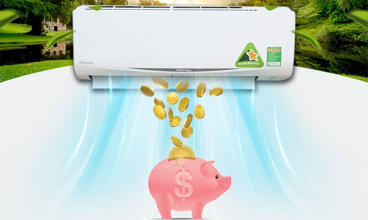 Máy lạnh Daikin FTKC50RVMV/RKC50RVMV tiết kiệm chi phí tiền điện