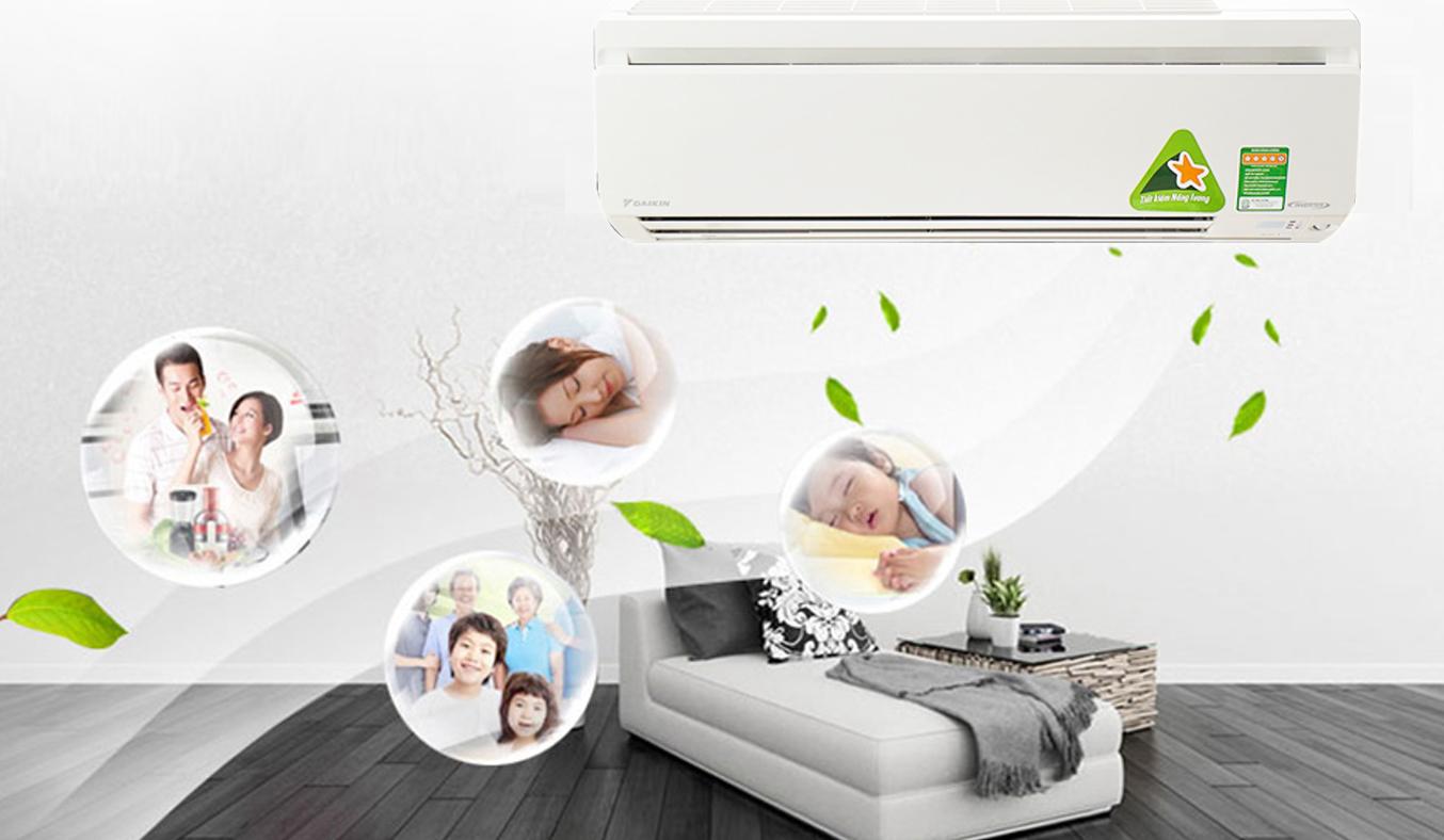 Máy lạnh Daikin Inverter 2 HP FTKS50GVMV chính hãng giá rẻ tại Nguyễn Kim