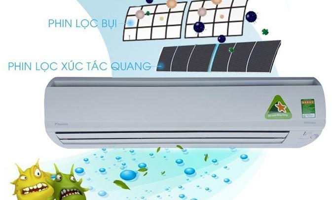 Máy lạnh Daikin Inverter 2 HP FTKS50GVMV kháng khuẩn hiệu quả