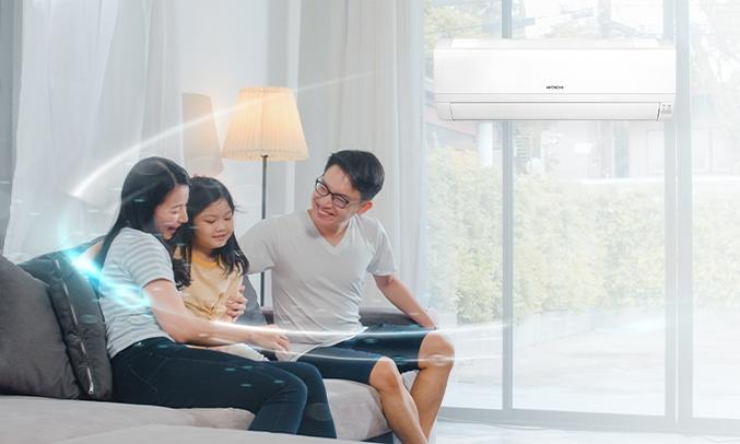 Máy lạnh Hitachi 1 HP RAS-EJ10CKV1 - An toàn, bền bỉ