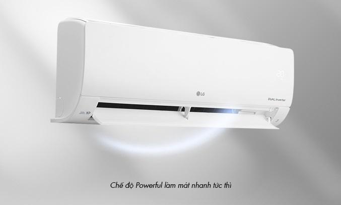 Máy lạnh LG Inverter 1.5 HP V13ENS1 - Chế độ Powerful làm mát nhanh