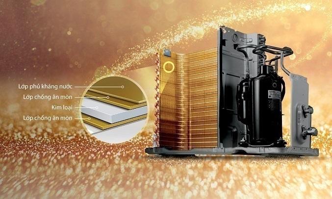 Máy lạnh LG Inverter 1.5 HP V13ENS1 - Lớp phủ chống ăn mòn Goldfin