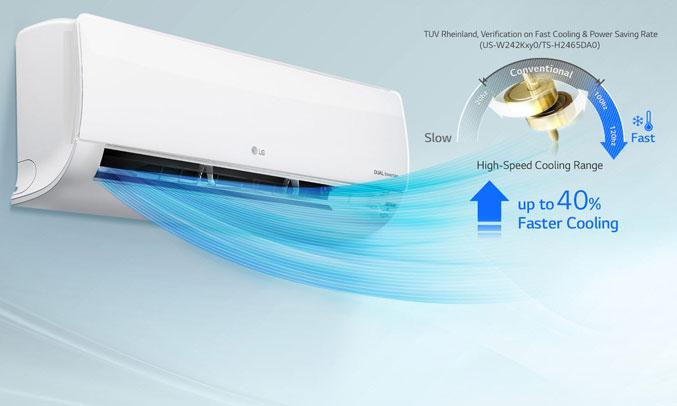 Máy lạnh LG inverter 1 HP V10ENW chất lượng
