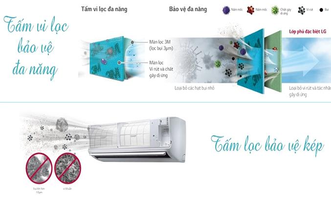Máy lạnh LG V10APD 1 HP kháng khuẩn