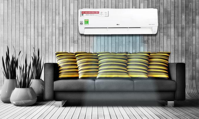 Máy lạnh LG Inverter 2 HP V18ENF tinh tế
