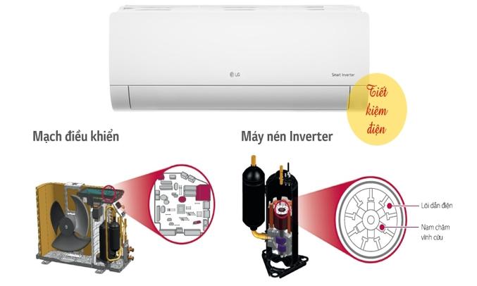 Máy lạnh LG V13END 1.5 HP tiết kiệm điện