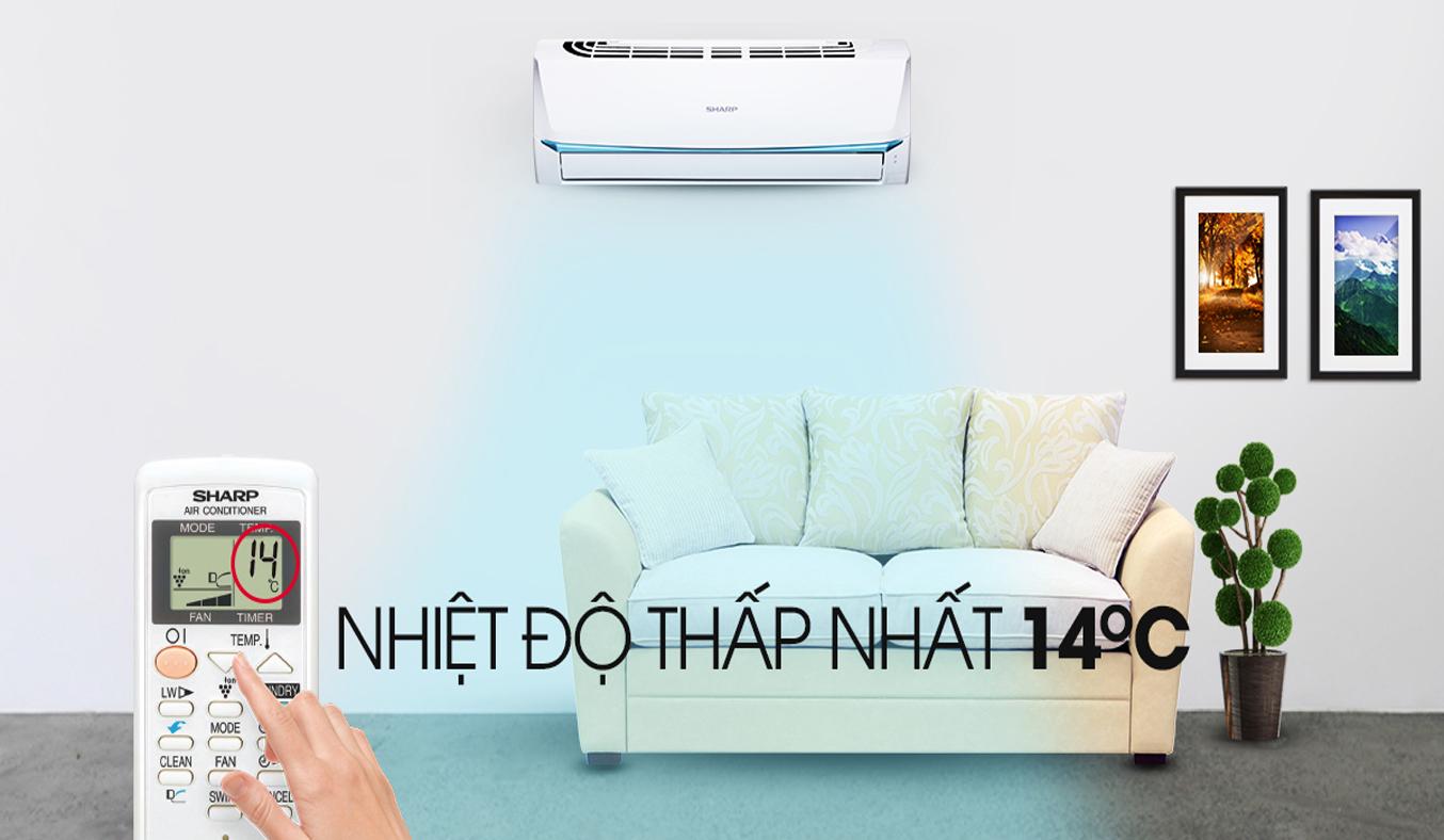 Máy lạnh Sharp 1Hp AH-A9UEW duy trì độ ẩm