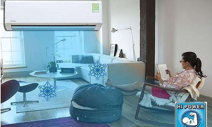 Máy lạnh Toshiba 1.5 HP RAS-H13S3KS-V làm lạnh nhanh