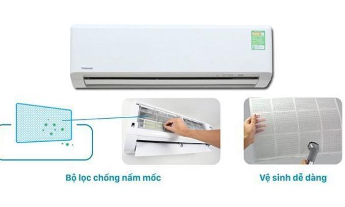 Máy lạnh Toshiba 1.5 HP RAS-H13S3KS-V kháng khuẩn