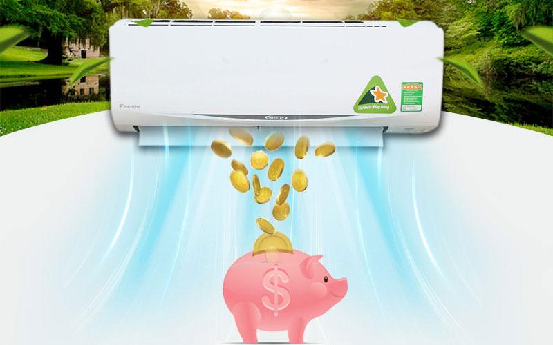 Với cơ chế hoạt động khác biệt, máy lạnh Inverter giúp tiết kiệm điện năng hiệu quả hơn nhiều lần so với máy lạnh thông thường