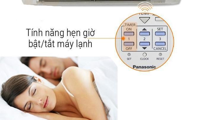 Máy lạnh Panasonic 1 HP CU/CS-PU9TKH-8 có chức năng hẹn giờ