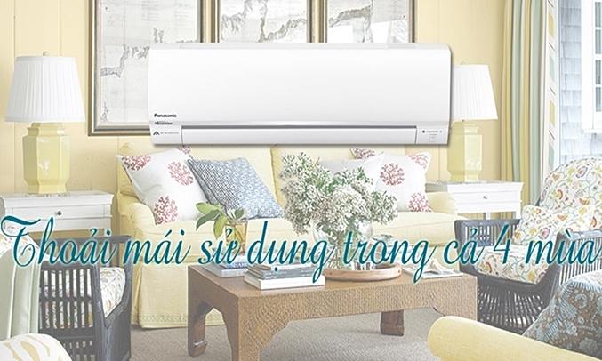 Máy lạnh Panasonic Inverter CS-YZ12SKH-8 1.5 HP sử dụng bốn mùa