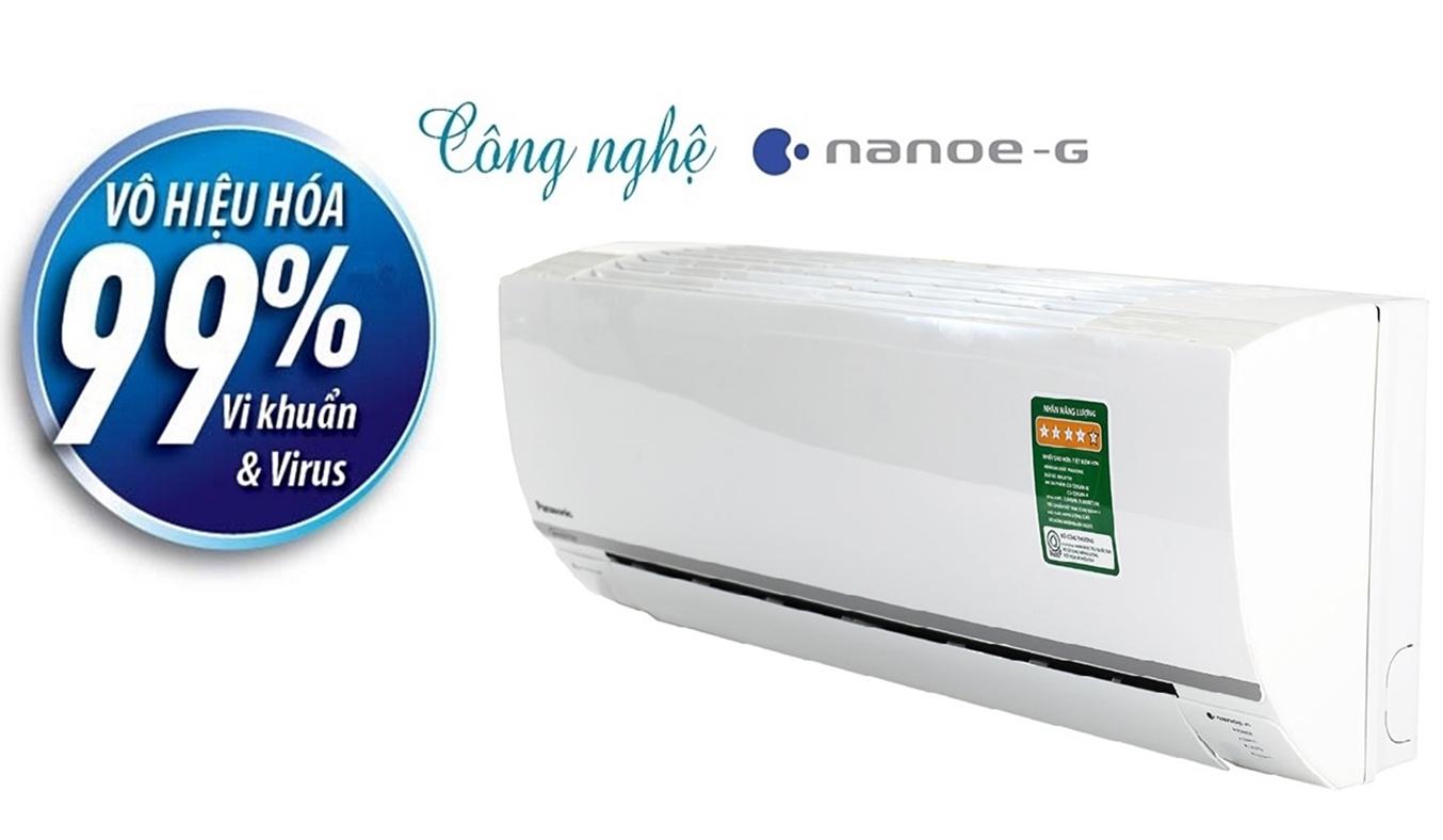 Máy lạnh Panasonic Inverter CS-YZ12SKH-8 1.5 HP có công nghệ diệt khuẩn Nanoe-G